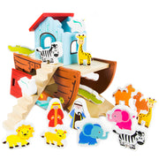 characters and boat for the Noah's Ark Playset - Wooden
