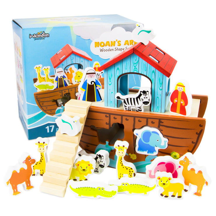 front view of the Noah's Ark Play set