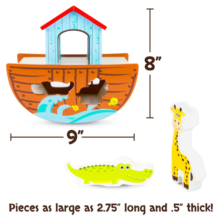 dimensional view of the Noah's Ark Playset