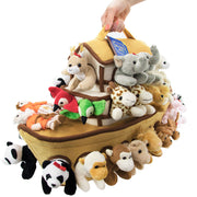 isometric view of the Noah's Ark Plush Play Set
