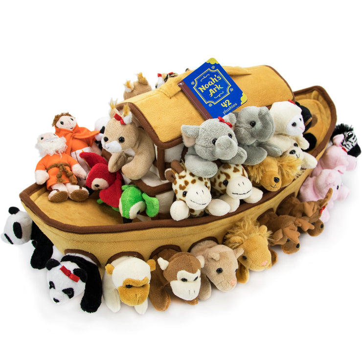 diagonal view of the Noah's Ark Plush Play Set