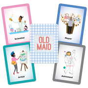 cards opened out from the Old Maid Illustrated Card Game
