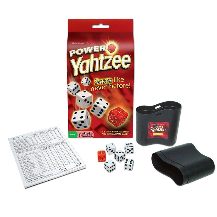 top view of the Power Yahtzee game