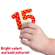 hand holding number 15 puzzle piece - stem toys and games