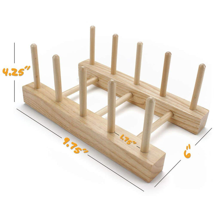 dimensional view of the Professor Poplar's Wooden Puzzle Display Stand
