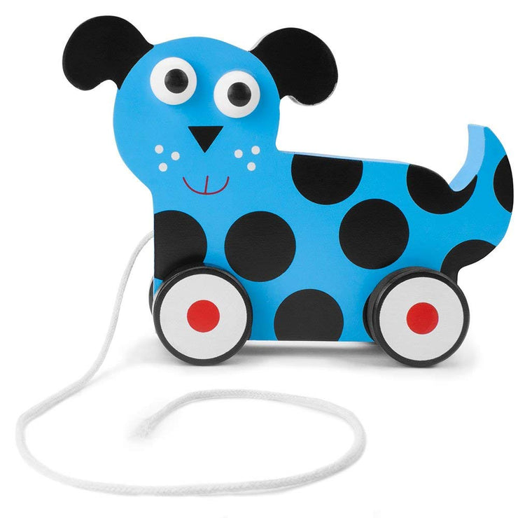 side view of blue dalmatian push and pull