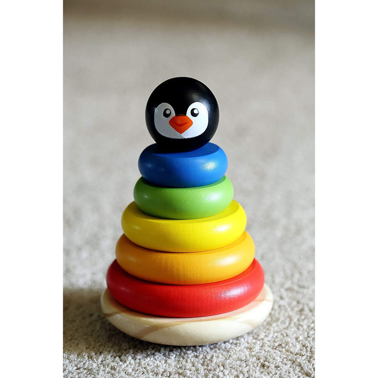 Rainbow Rings Stacking Tower