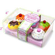 box packaging of wood eats scrumptious cupcakes