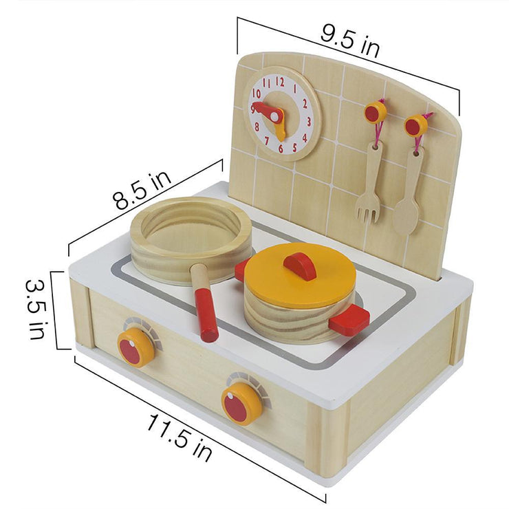 image of tabletop cooktop kitchenette set displaying dimensions