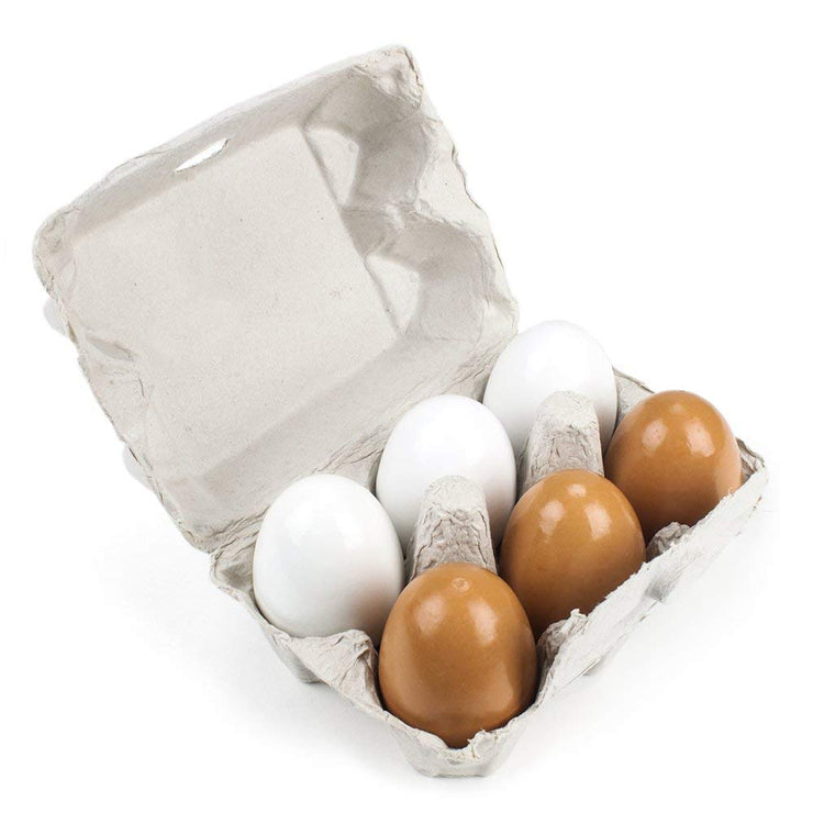 Wood Eats - Eggcellent Eggs with Real Carton on white backing