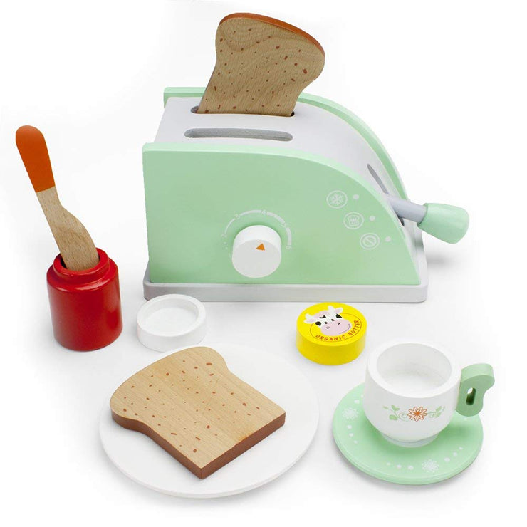 next view of wood eats green pop up toaster play set