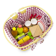 wood eats picnic basket all packed to go for a picnic