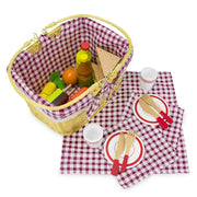 wood eats picnic blanket laid out with cutlery ready for sharing