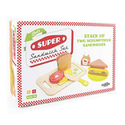 wood eats super sandwich set box packaging