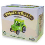 box packaging for Wooden Wheels Tractor
