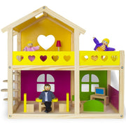 front view Wooden Wonders Cozy Cottage Dollhouse