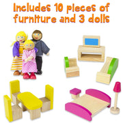 furniture of Wooden Wonders Cozy Cottage Dollhouse