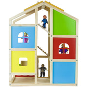 back view of wooden wonders dolls house