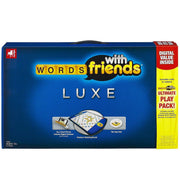 blue and yellow box packaging for word play board game