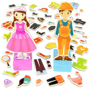 Zoey & Joey Magnetic Dress-up Playset on white backing