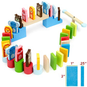 dimension diagram of zoo pals dominoes