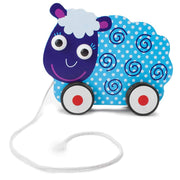 front view of Push-n-Pull Swirly Sheep