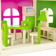 close up view of the lime colored Eat-In Kitchen Set