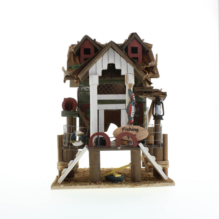 front view of the Fishing Pier Birdhouse