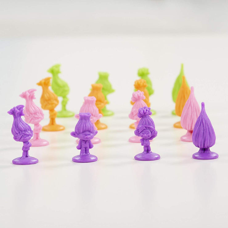 close up of the trolls game pieces