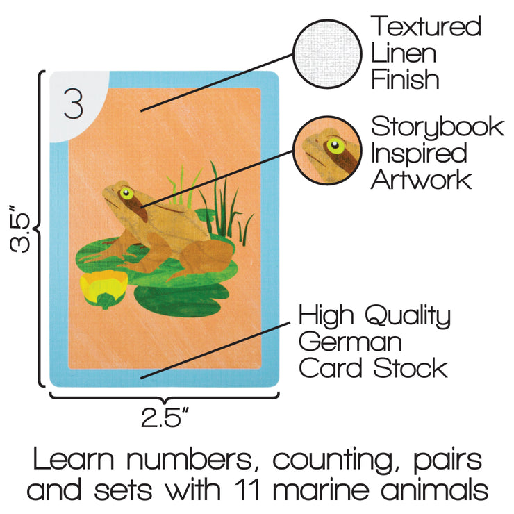 one go fish card displaying properties and dimensions