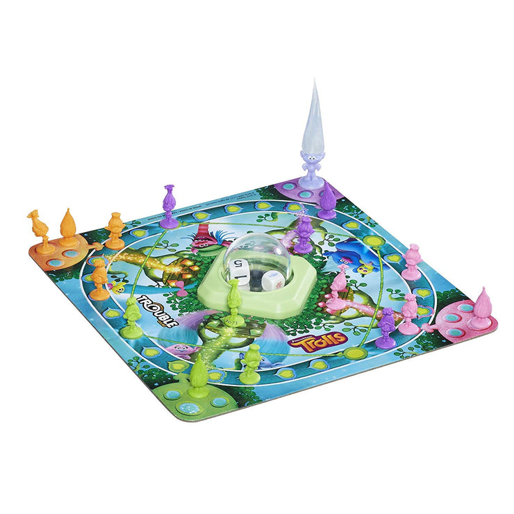 view of game board for DreamWorks Trolls in Trouble Game