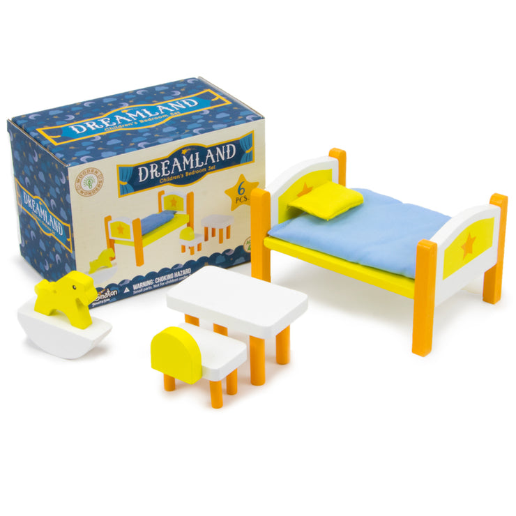 Dreamland Children's Bedroom Furniture and box packaging