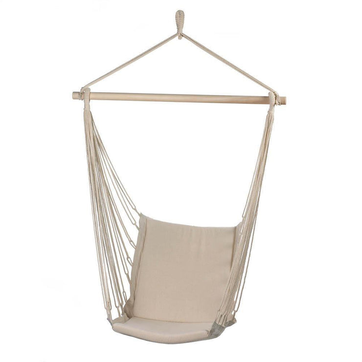 image of a beige hammock chair