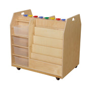 Wood Designs Trolley Art Cart with Translucent Trays