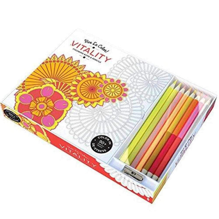 Vitality Adult Coloring Book Color Therapy Kit   Family Activities ...