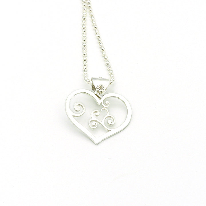Swirl Heart Necklace