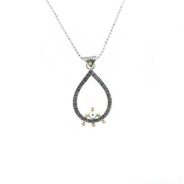 Teardrop Pendant Necklace with Adjustable Chain