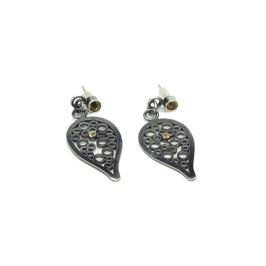 Tear Drop Champagne Earrings