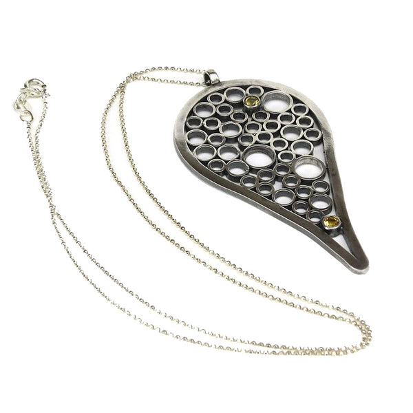 Tear Drop Champagne Necklace