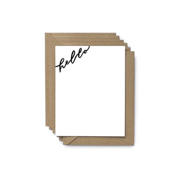 Hello Flat Note Set of 6