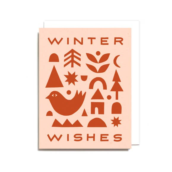 Winter Wishes Collage Card