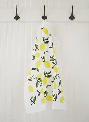 Ten & CO Tea Towel - Citrus (Vintage Lemon)
