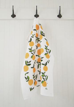 Ten & CO Tea Towel - Citrus Orange (Vintage Orange)