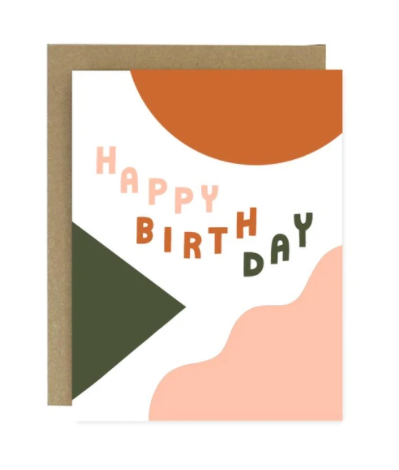 Birthday Shapes and Colors Card