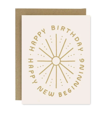 Birthday New Beginning Card