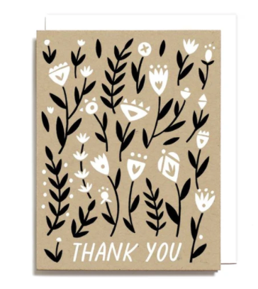Thank You Floral Pattern