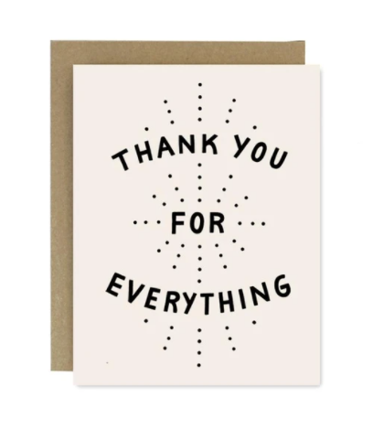 Thank You For Everything Cards set of 6
