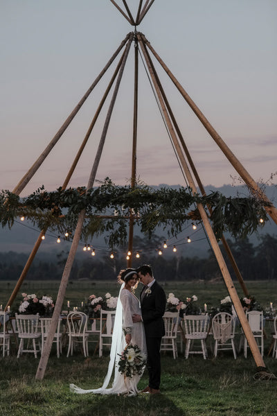 Macrame Arbour Featured in Moonlit Elopement Shoot