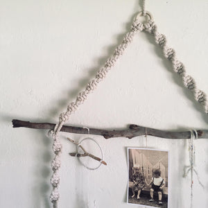 Macrame hanging display