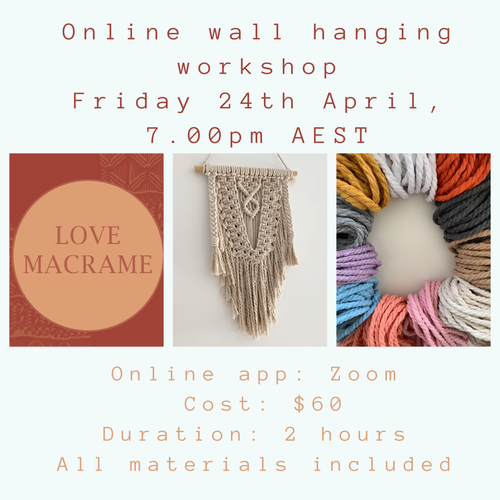 ONLINE WALL HANGING WORKSHOP